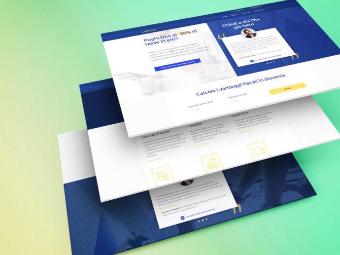 Prenova in izdelave nove spletne strani Lenova.io